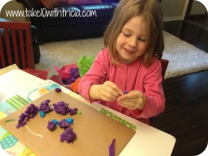 Charlotte-with-tissue-paper-craft