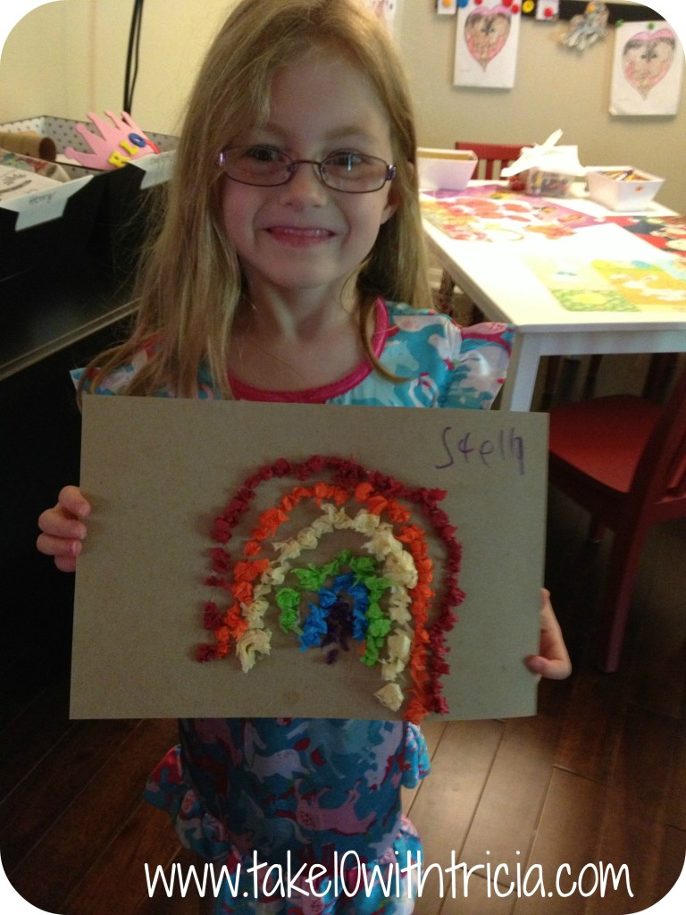 Stella-with-tissue-paper-rainbow-craft