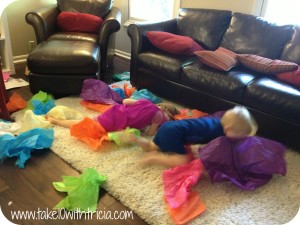 Tissue-paper-pool-play