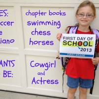 A Week of Firsts for my First Grader