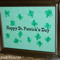 St. Patrick's Day Shamrock Thumbprint Craft