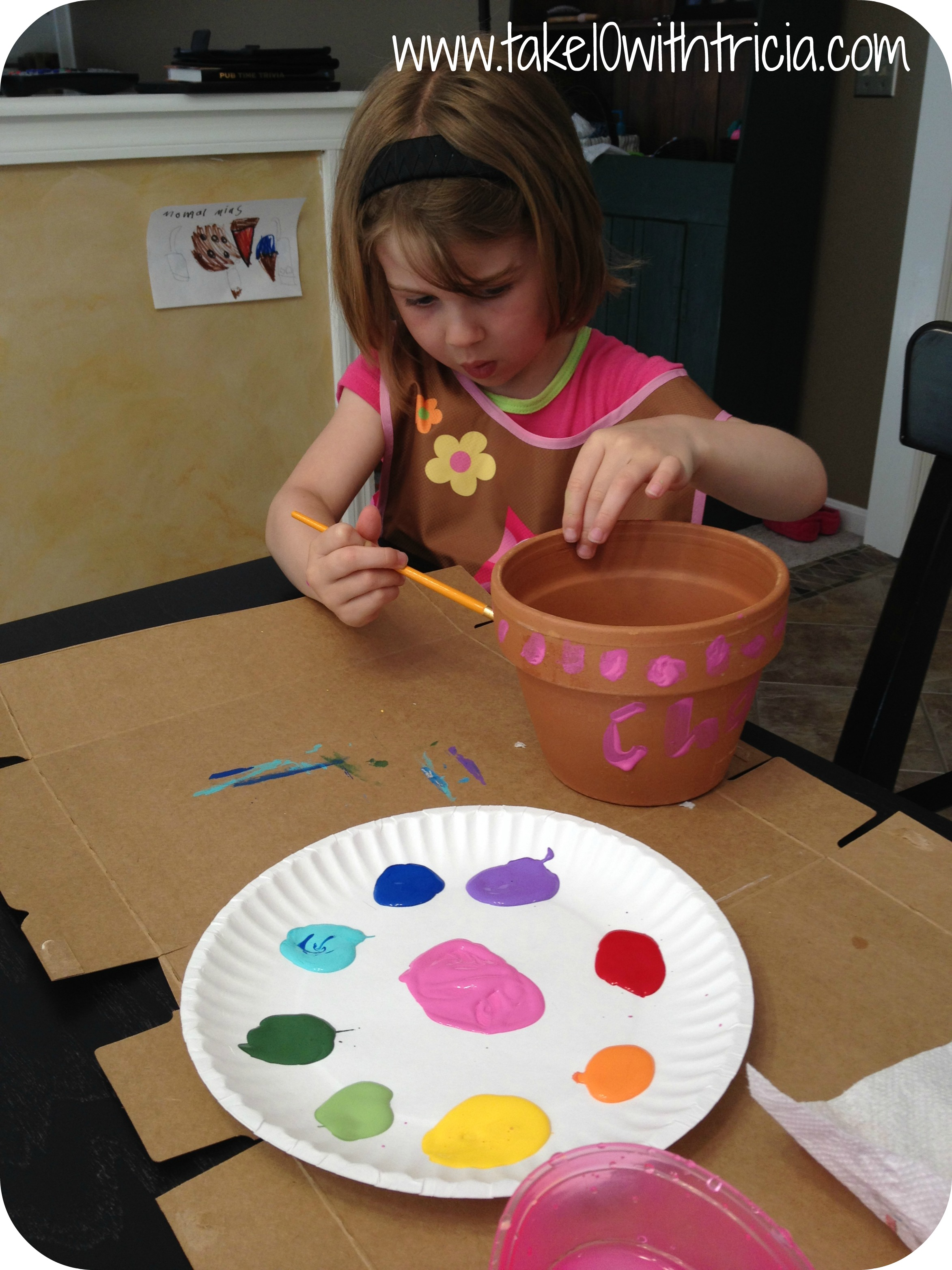 Charlotte-painting-fairy-garden-pot