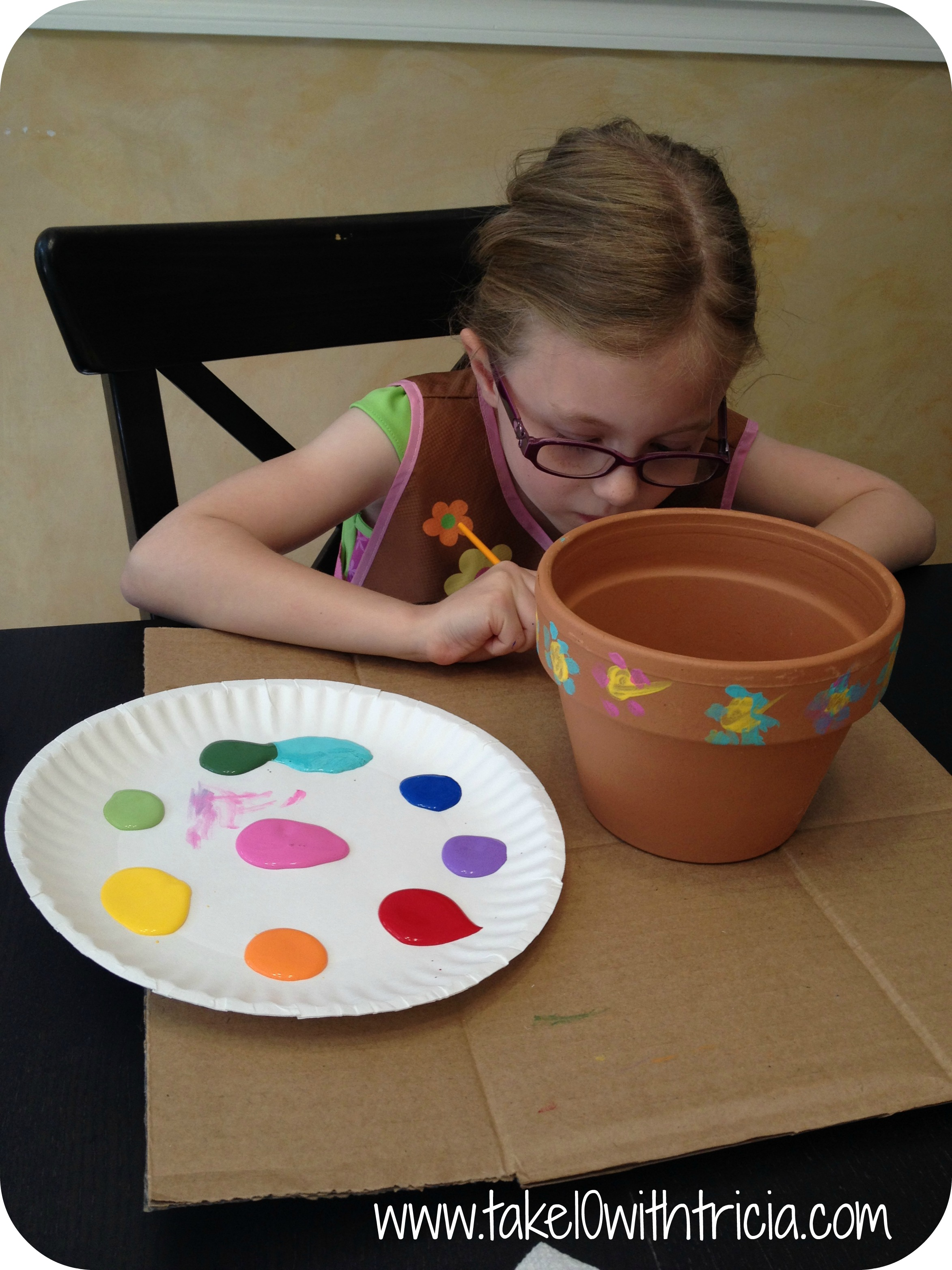 Stella-painting-fairy-garden-pot