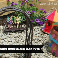 Painting Fairy Houses and Clay Pots