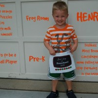 Henry Starts Pre-K Frog Room