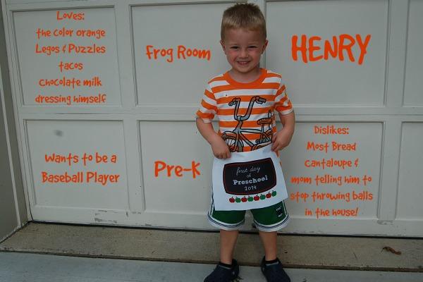 Henry starts pre-k 4s
