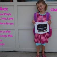 Charlotte Starts Kindergarten