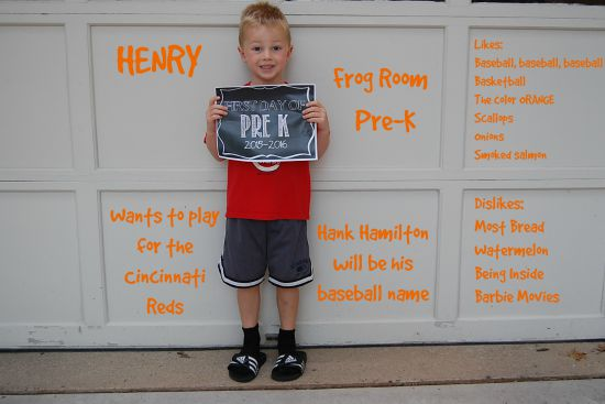 Henry First Day of School 2015