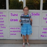 Stella – Hello Third Grade!