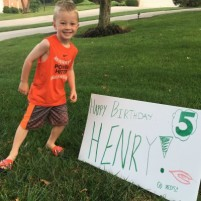 Henry's 5th Birthday (and his birth story)