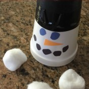 Snowman Snowball Shooter Craft