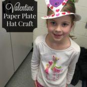 Valentine Paper Plate Party Hat Craft