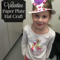 Valentine Paper Plate Party Hat Craft