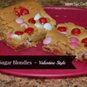 Brown Sugar Blondies for Valentine's Day