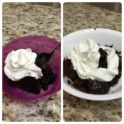 Chocolate Lava Cake in the Microwave