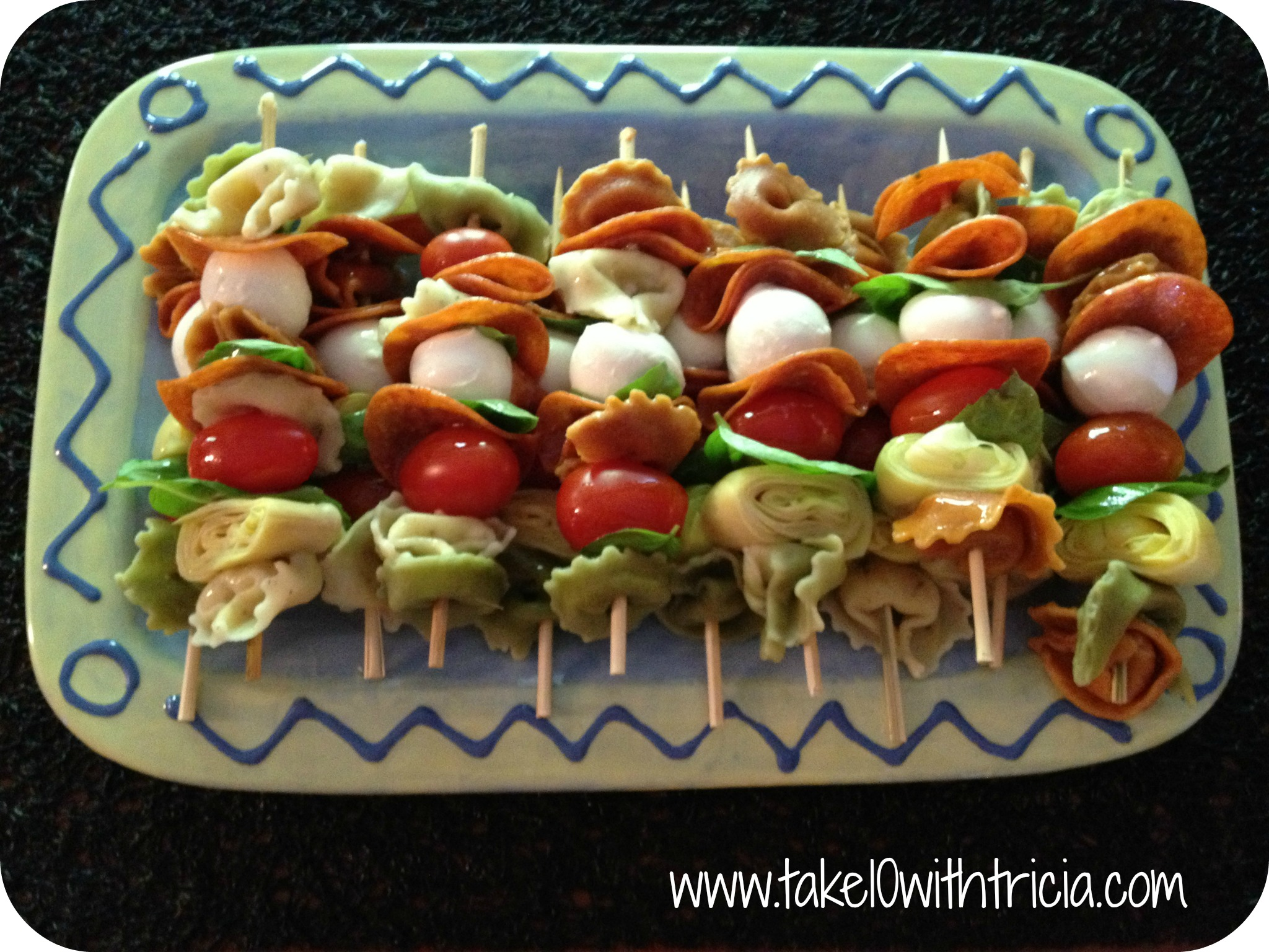 Antipasto skewers pinterest antipasto skewers recipe Ina garten appetizer platter