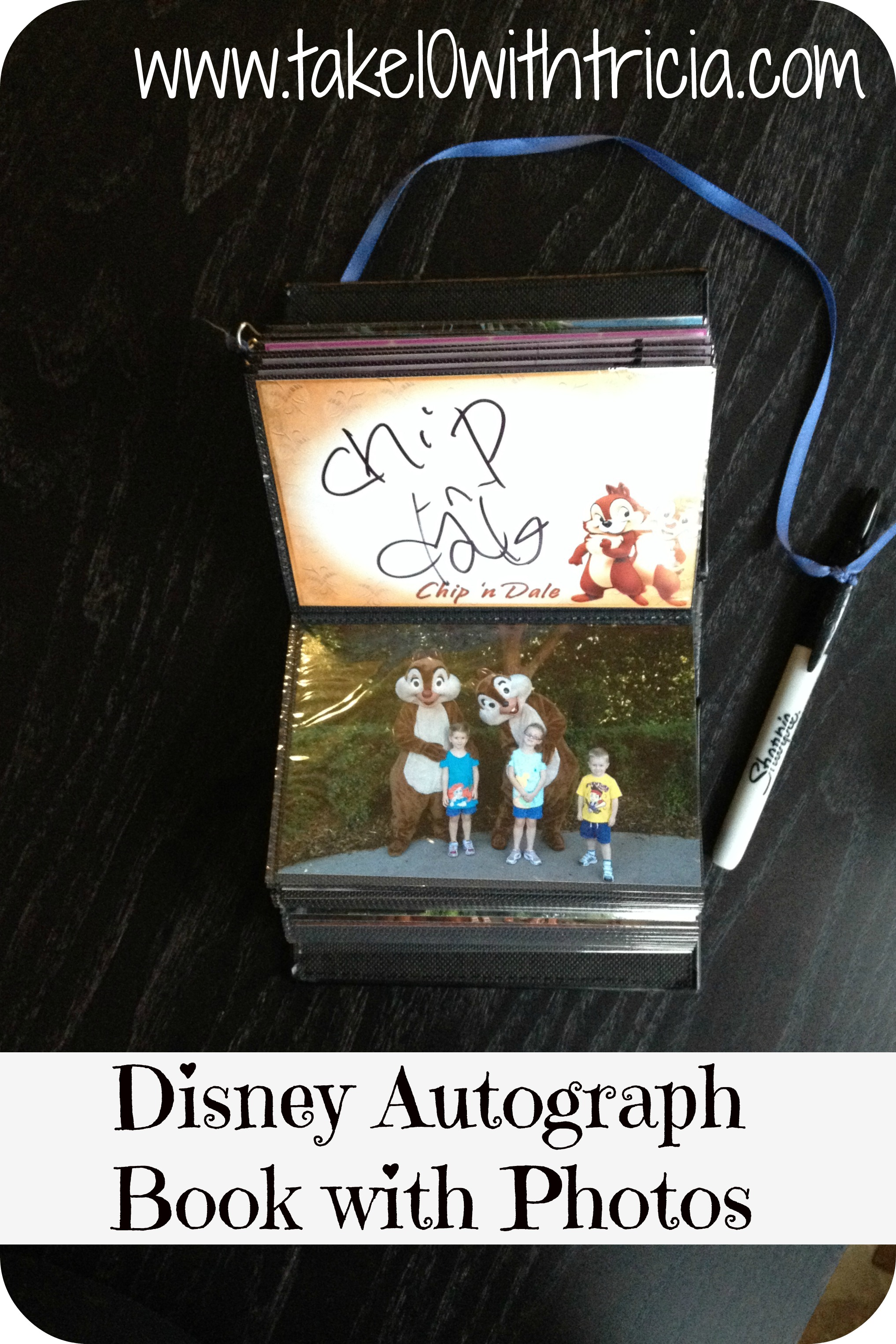 disney autograph book with photos diy take 10 with tricia