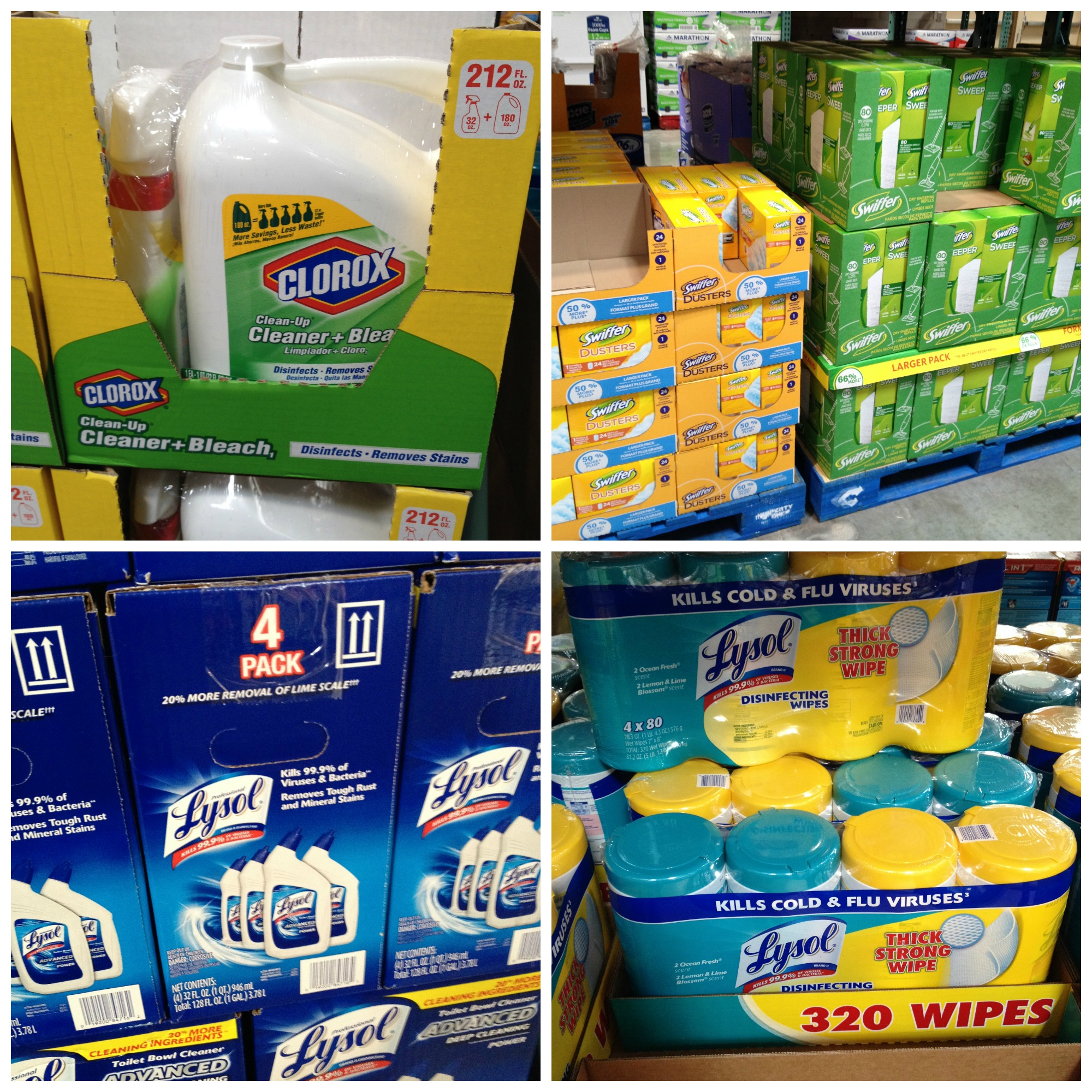 photos of cleaning supplies in bulk