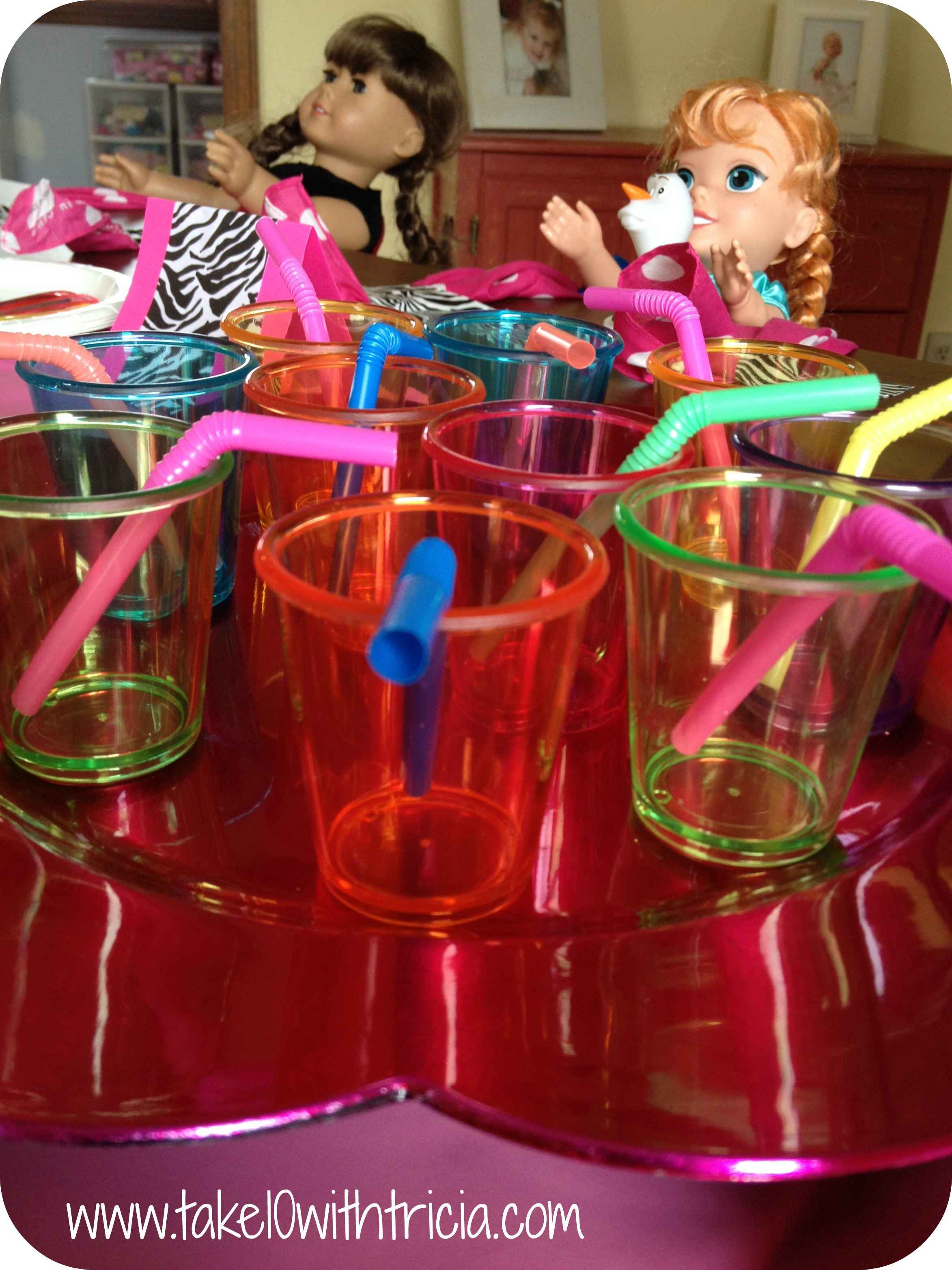 Baby Doll Theme Birthday Party Cups Straws