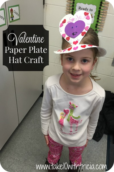 d893dc435472b These hats are a Valentine Party favorite. They are super easy to prepare  and a fun craft to decorate. All you need is a stack of paper plates